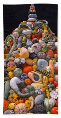 Mountain Of Gourds And Pumpkins Bath Towel