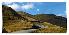 Mountain Pass Road Bath Towel