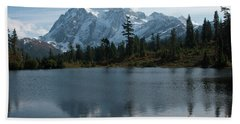 Mountain Reflection Hand Towel by Rod Wiens