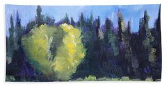 Mountain Shadows Landscape Painting Hand Towel