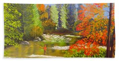 Mountain Stream Hand Towel