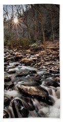 Hand Towel featuring the photograph Icy Mountain Stream by Debbie Green