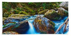 Hand Towel featuring the photograph Mountain Streams by Alex Grichenko