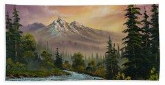 Mountain Sunset Bath Towel