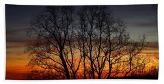 Hand Towel featuring the photograph Mountain Sunset by Kathryn Meyer