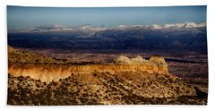 Mountains At Senator Clinton P. Anderson Scenic Route Overlook  Hand Towel