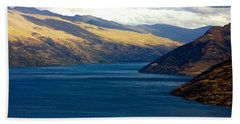 Mountains Meet Lake #2 Hand Towel by Stuart Litoff