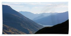 Mountains Meet Lake #3 Hand Towel by Stuart Litoff
