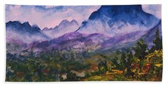 Mountains Of Pyrenees  Bath Towel