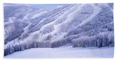 Mountains, Snow, Steamboat Springs Bath Towel