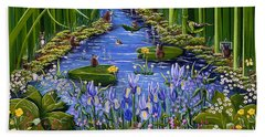 Bath Towel featuring the painting Mouse Pad by Jennifer Lake