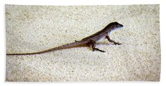 Hand Towel featuring the photograph Mr. Gecko by Pennie  McCracken
