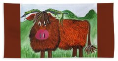 Mr Highland Cow 2 Hand Towel