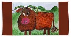 Mr Highland Cow 2 Bath Towel