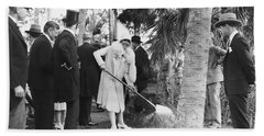Mrs. Calvin Coolidge Planting Bath Towel