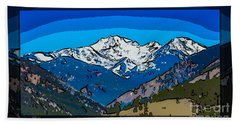 Mt Gardner In The Spring Abstract Painting  Bath Towel