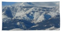 Hand Towel featuring the photograph Mt Rose Reno Nevada by Dan Whittemore