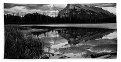 Mt. Rundle Reflection Bath Towel