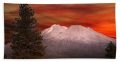 Mt Shasta Fire In The Sky Hand Towel