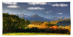 Mt Sneffels And The Dallas Divide Bath Towel