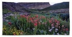 Mt. Timpanogos Wildflowers At Sunset Hand Towel