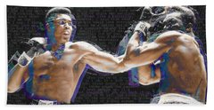 Muhammad Ali Bath Towel by Tony Rubino
