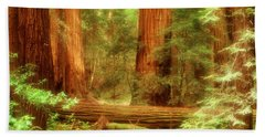 Muir Woods, Trees, National Park Bath Towel
