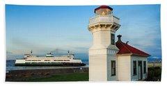 Mukilteo Ferry And Lighthouse Bath Towel