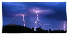 Multi Arc Lightning Strike Hand Towel