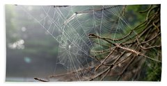 Multiple Webs - Near Bath Towel by Kenny Glotfelty