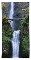 Multnomah Falls Bath Towel by Athena Mckinzie
