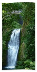 Multnomah Falls Bridge 2 Bath Towel by Susan Garren