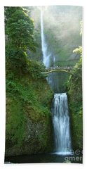 Multnomah Falls Hand Towel by Christiane Schulze Art And Photography