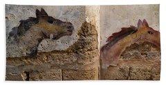 Mural Of Animal On Wall, Acre Akko Bath Towel