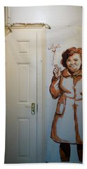 Mural Of Mccourts Mother Angela Bath Towel