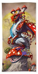 Hand Towel featuring the digital art Mushroom Dragon by Stanley Morrison
