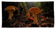 Bath Towel featuring the photograph Mushroom Morning by GJ Blackman