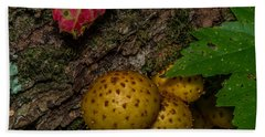 Mushrooms On The Forest Floor Hand Towel