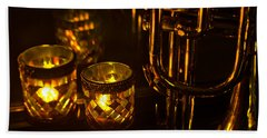 Trumpet And Candlelight Bath Towel