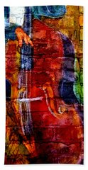 Musician Bass And Brick Bath Towel
