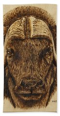 Muskox Bath Towel by Ron Haist