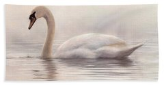 Mute Swan Painting Bath Towel