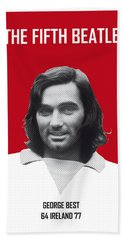 My Best Soccer Legend Poster Hand Towel by Chungkong Art