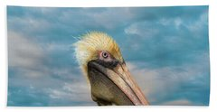 My Better Side - Florida Brown Pelican Hand Towel