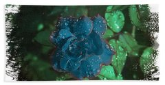 My Blue Rose Hand Towel