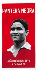 My Eusebio Soccer Legend Poster Bath Towel