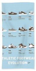 My Evolution Sneaker Minimal Poster Bath Towel