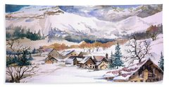 My First Snow Scene Bath Towel
