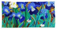 My Iris - Inspired  By Vangogh Bath Towel