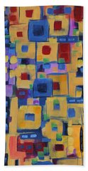 Bath Towel featuring the painting My Jazz N Blues 1 by Holly Carmichael